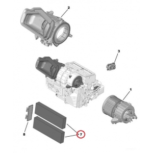 Salongiõhu filter Peugeot 308 II söega