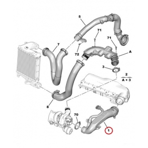 Turbo hose Citroen/Peugeot EP