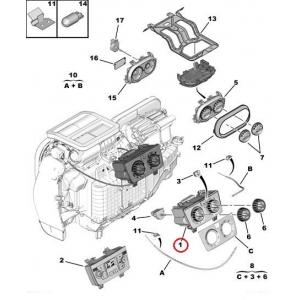 Interior blower switch panel Jumper/Boxer/Ducato 2006-