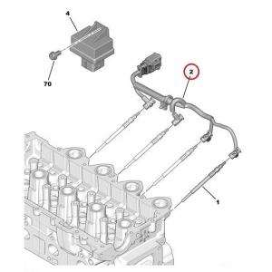 Hehkutulppa kaapelinkorjaussarja Citroen/Peugeot