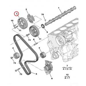 Camshaft pulley Citroen/Peugeot
