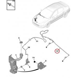 Windscreen washer hose Peugeot 407