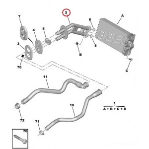 Salongiradiaatori torud Citroen C4