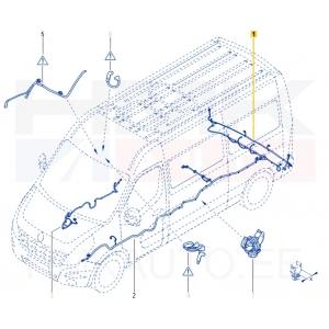 Pysäköintianturin johdot taka Renault Master 2,3DCI 2010-