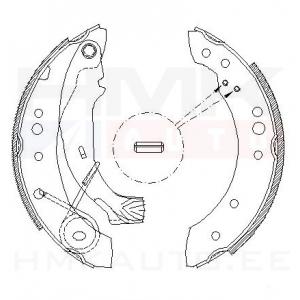 Brake shoe accessory kit Citroen C2/C3, Peugeot 1007