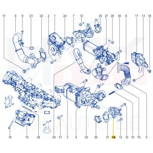 EGR jahuti toru OEM Renault Master 2,3DCI 2010-
