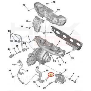 Turbo õlitoru tihend Citroen/Peugeot (tagasivool)