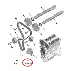 Timing belt kit OEM Peugeot/Citroen  1.6-16v  00-