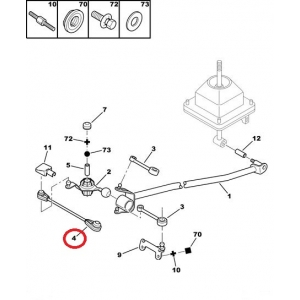 Gear lever linkage rod Peugeot 406