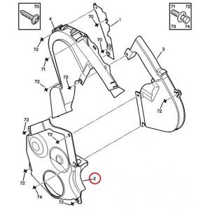 Кожух зубчатого ремня нижний Peugeot/Citroen 2,0 HDI DW10 мотор