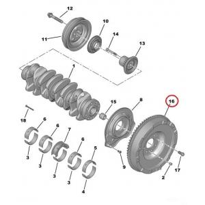 Flywheel Citroen Jumper, Peugeot Boxer 2,2HDI 06-