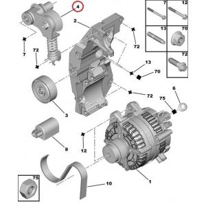 Mitmikkiilrihma pinguti Citroen C5/Peugeot 407,607  2,7/3,0HDI
