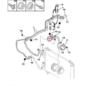 A/C pipe sealing ring Citroen/Peugeot
