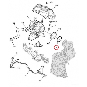 Прокладка турмокомпрессора Citroen Nemo/Peugeot Bipper 1,3HDI