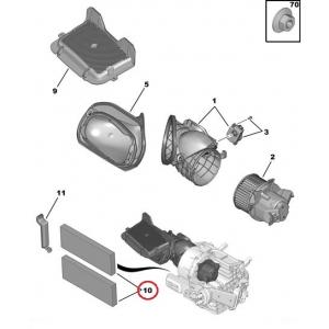 Cabin air filter OEM Citroen C-Elysee/Peugeot 301