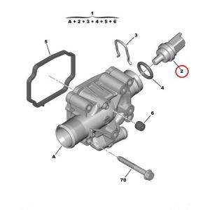 Датчик температуры охлаждающей жидкости Citroen/Peugeot 1,4-1,6