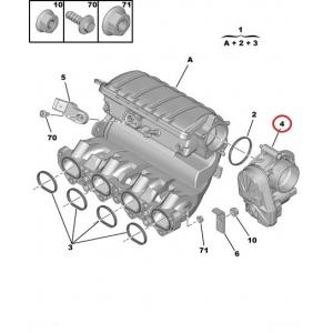 Дроссельная заслонка Citroen/Peugeot 1,6 16V TU5JP4