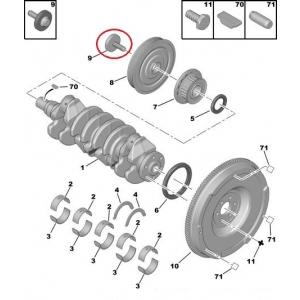 Hihnapyörän ruuvi PSA 12x150-50