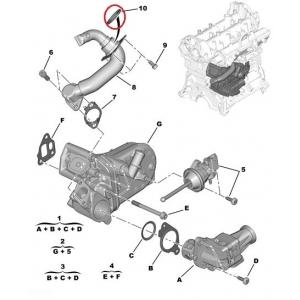 EGR pipe seal Citroen Nemo/Peugeot Bipper 1,3HDI