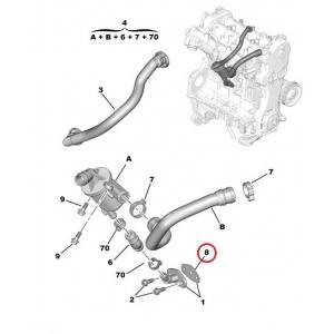 EGR pipe gasket Citroen Nemo/Peugeot Bipper 1,3HDI