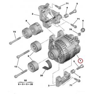 Generaator Citroen/Peugeot 150A