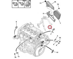 Coolant fluid temperature sensor OEM Jumper/Boxer/Ducato 2,2HDI 2006-