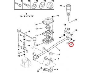 Болт кулисы Peugeot/Citroen