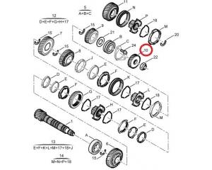 5-käigu hammasratas 31-hammast (53X31) Jumper/Boxer/Ducato -2006