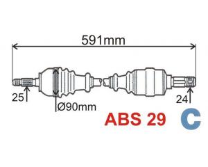 Veovõll kompektne vasak Berlingo/Partner ABS 29
