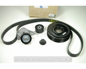 Alternator belt kit with crankshaft pulley Renault 2,0DCi (witout AC)