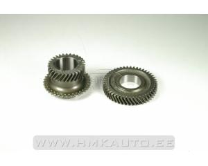 Gear wheel pair, sixth gear Renault PK6 (shaft ⌀ 39mm)