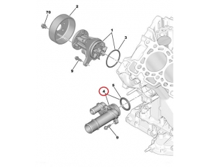 Jahutusvedeliku flants Citroen/Peugeot 2,7-3,0HDI