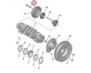 Väntvõlli rihmaratta kinnituspolt Jumper/Boxer/Ducato 2,2HDI