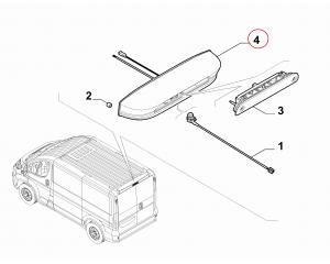 Rear view camera casing Jumper/Boxer/Ducato 2014-