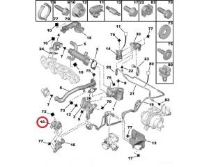 EGR magnetklapp Citroen/Peugeot 2,0HDI