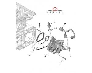 Termostaat korpusega Citroen/Peugeot 1,4-1,6 16V EP3, EP6 mootorid