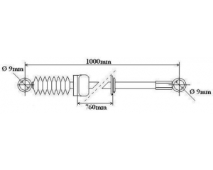Gear link control cable Citroen Jumper/Peugeot Boxer 1.9D 760/1000