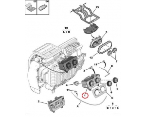 Heater control module Jumper/Boxer/Ducato 2006- (without A/C)