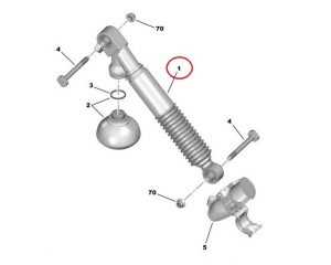 Rear shock absorber OEM Citroen C6/C5 08-
