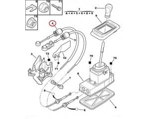 Vaijeri, käsivaihteisto OEM Citroen C5/Peugeot 407