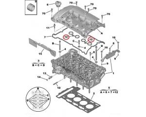 Tiiviste, ventiilikoppa OEM Citroen/Peugeot EP6