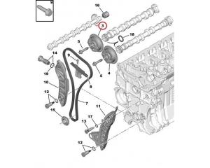 Sisselaske nukkvõlli ketiratas Citroen/Peugeot EP-mootorid
