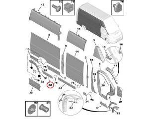 Передний молдинг боковой панели правый Jumper/Boxer/Ducato 2006- L3