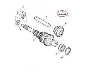 Комплект подшипников первичного вала Citroen/Peugeot ML5C
