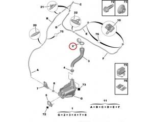 Washer fluid reservoir cap OEM Peugeot/Citroen