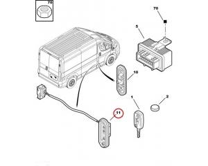 Контакнтный выключатель боковой сдвижной двери Jumper/Boxer/Ducato 2006-