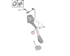 Accelerator pedal Citroen/Peugeot