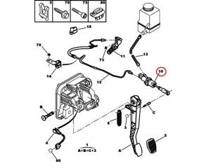 Clutch master cylinder Citroen C5/C6/Peugeot 407