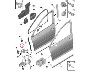 Uksepiiraja Peugeot 407 esiuksele