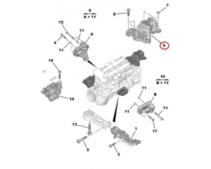 Engine mounting left Jumper/Boxer/Ducato 06- 3,0HDI
